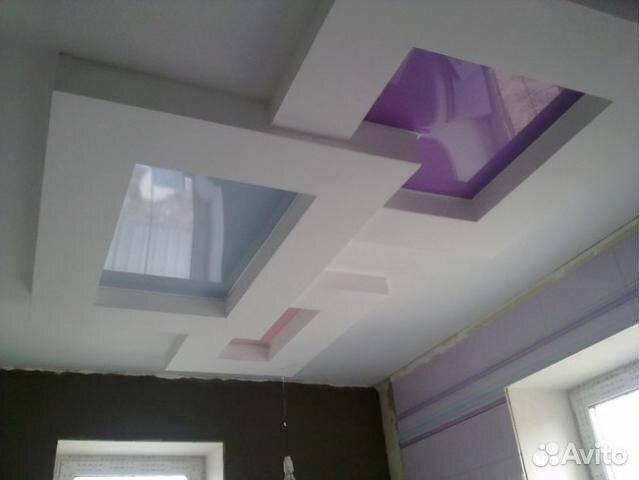 Квадраты на потолок фото