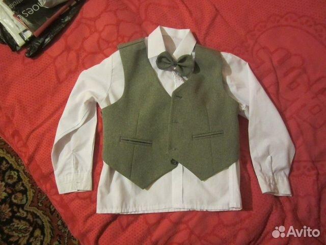 Брюки и рубашка с коротким рукавом мужская - d