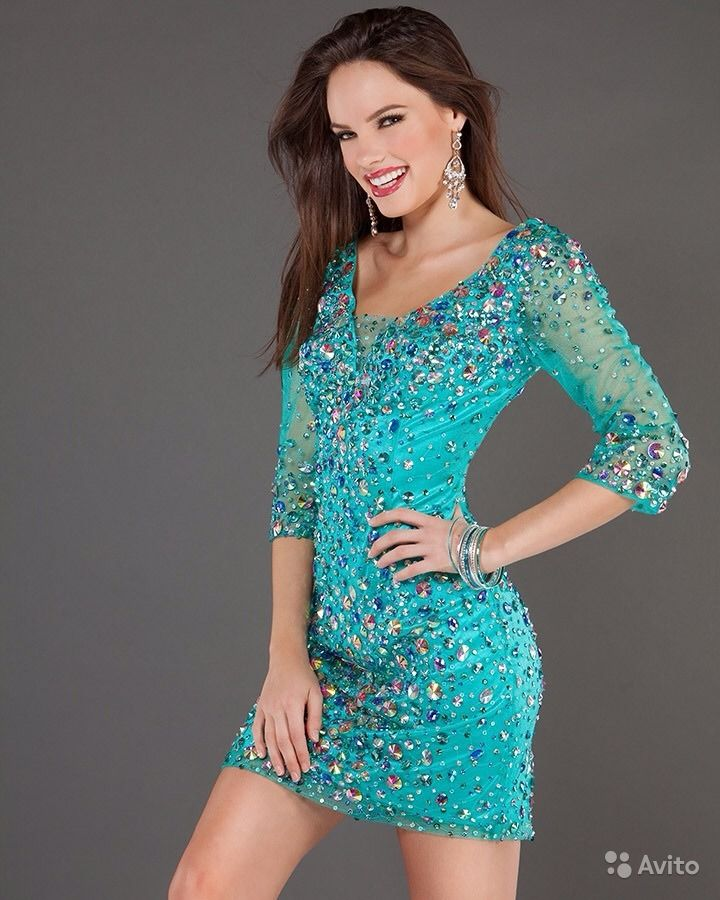 Платье джовани голубое