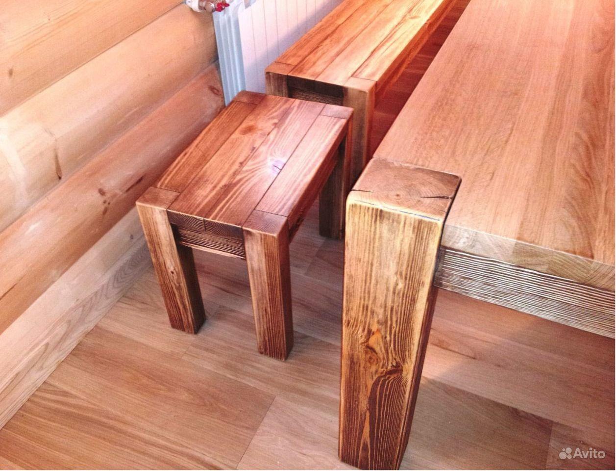 Деревянный стол для дачи 3 метра