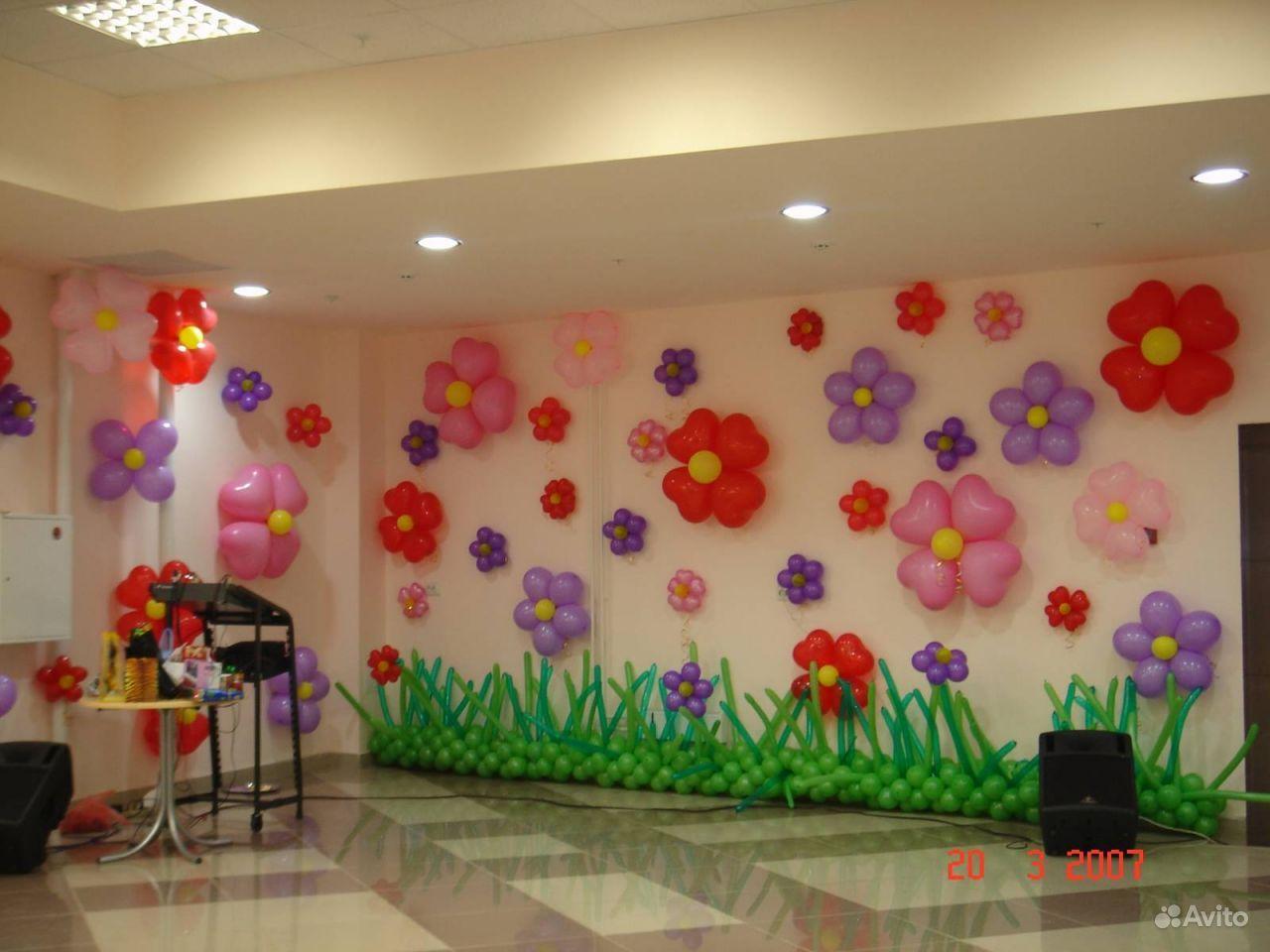 Оформление воздушными шарами детских