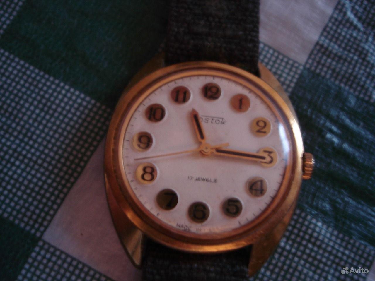 Часы заря, первого класса точности, корпус позолота аu5.