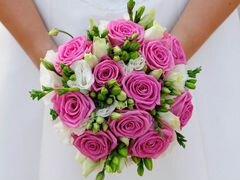 Свадебный букет розами