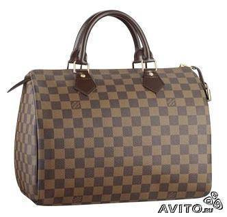 Louis Vuitton LV speedy кожа 30/35 Damier