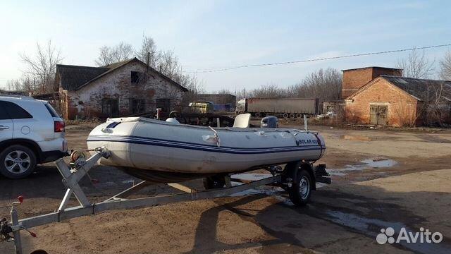 купить лодку солар на авито с мотором