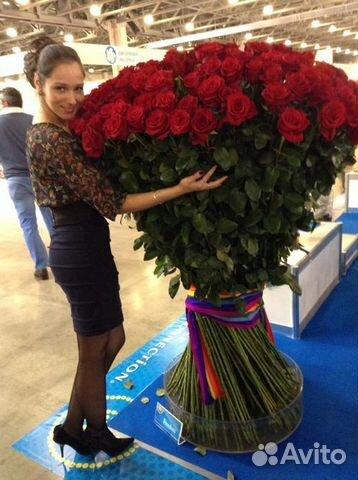Купить 101 розу в москве дешево