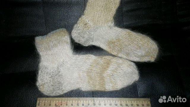 Носки. вязаные с собачьей шерстью. детские