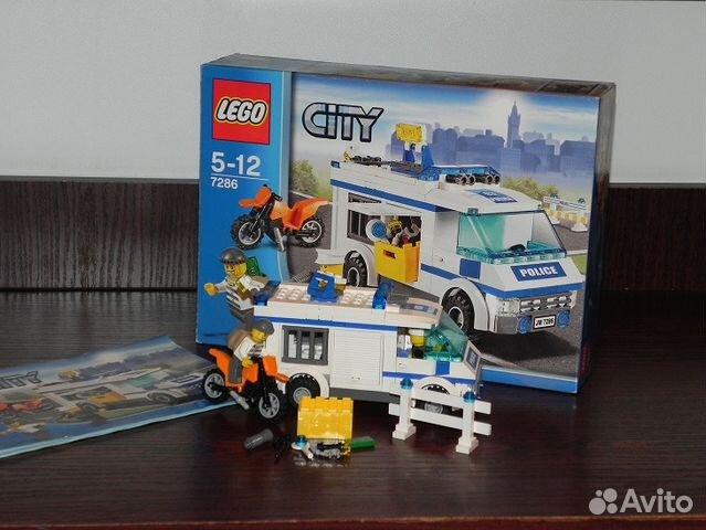 Конструктор lego city 7286 lego перевозка заключённых — купить в.