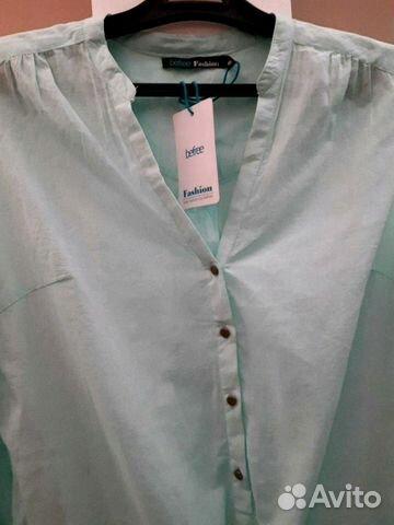 Блуза хлопок новая 46-48 размер 89516237900 купить 2