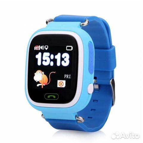 Умные детские часы телефон с gps Wonlex Q 90 Blue— фотография №1 47d2532ef344c