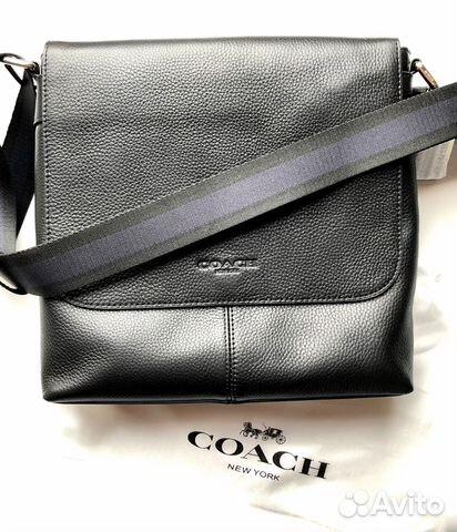 Сумка мужская Coach Metropolitan черная оригинал 055453c6a78b0