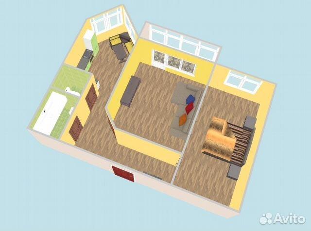 Продается двухкомнатная квартира за 3 400 000 рублей. Красноярск, улица Академика Вавилова, 25Б.