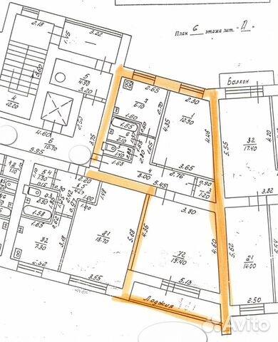 Продается двухкомнатная квартира за 3 800 000 рублей. Нижний Новгород, улица Максима Горького, 250.