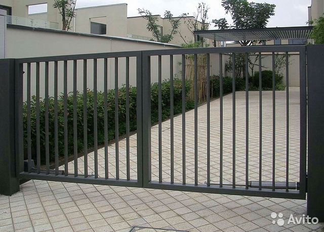 89128655291 Распашные уличные ворота решетчатые