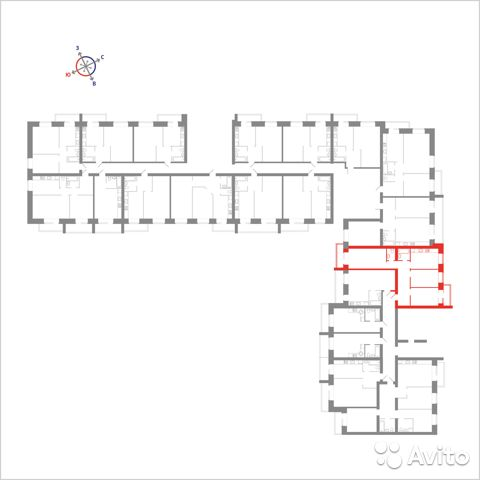 3-к квартира, 72.2 м², 6/14 эт. 89115506177 купить 4