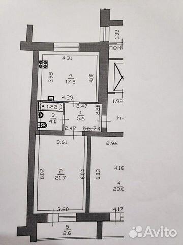 1-к квартира, 51.1 м², 9/9 эт.  89613362113 купить 1