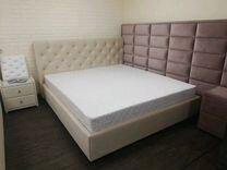 Кровать кожаная новая