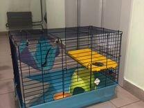 Большая клетка для грызунов с аксессуарами