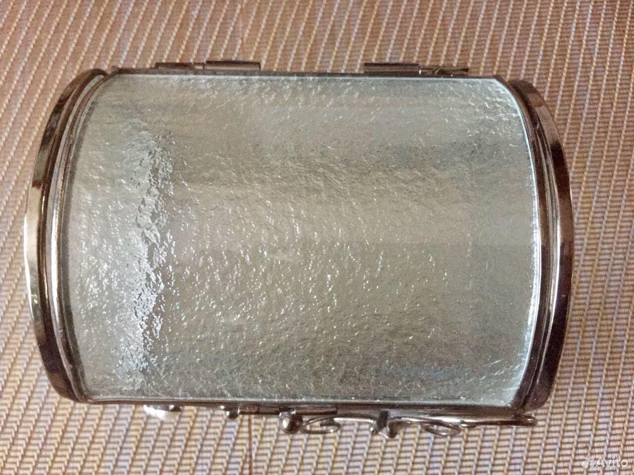 Шкатулка стекло+сталь+перламутр  89069076084 купить 4