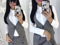 Костюм женский (юбка-шорты + жилет)
