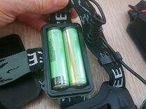 Мощный налобный фонарь,xml диод, с аккумуляторами