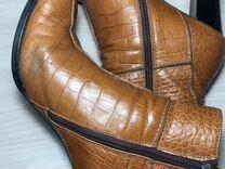 Ботильоны кожаные
